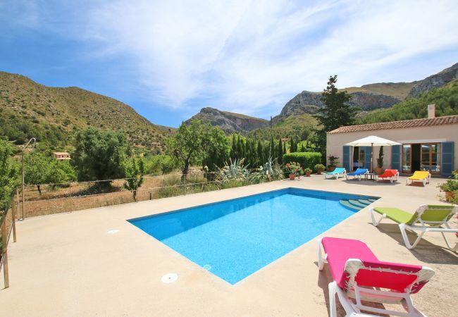 Panorama mit Pool der Finca Can Joan in Arta